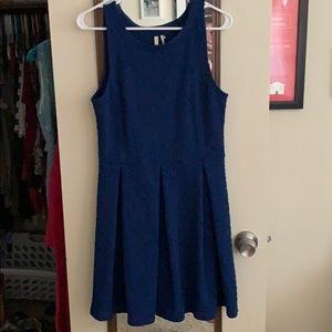 Dark blue pleated dress by Frenchi